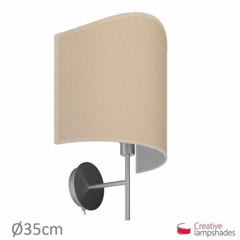 abat jour applique model e pour lampe murale rev tement jute clair. Black Bedroom Furniture Sets. Home Design Ideas