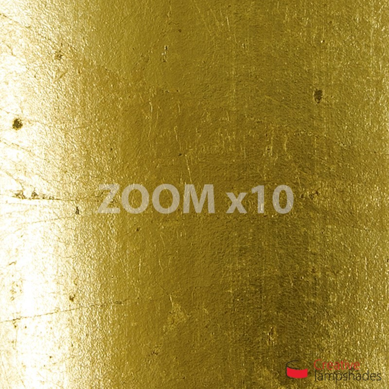 Round Ceiling Lamp With Gold Leaf Cover