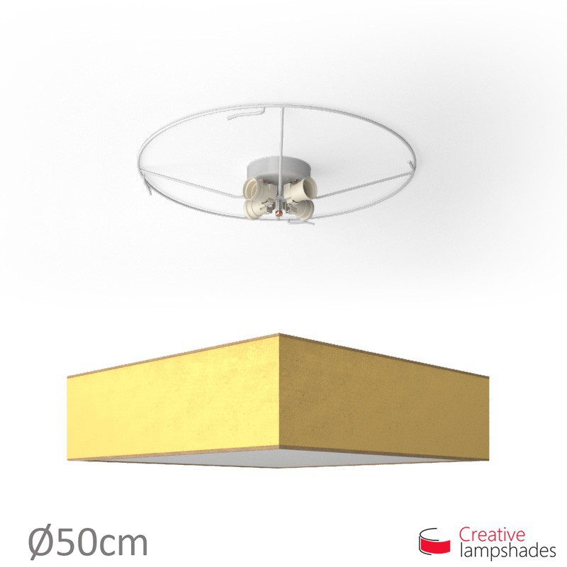 ceiling lamp with Gold Leaf cover
