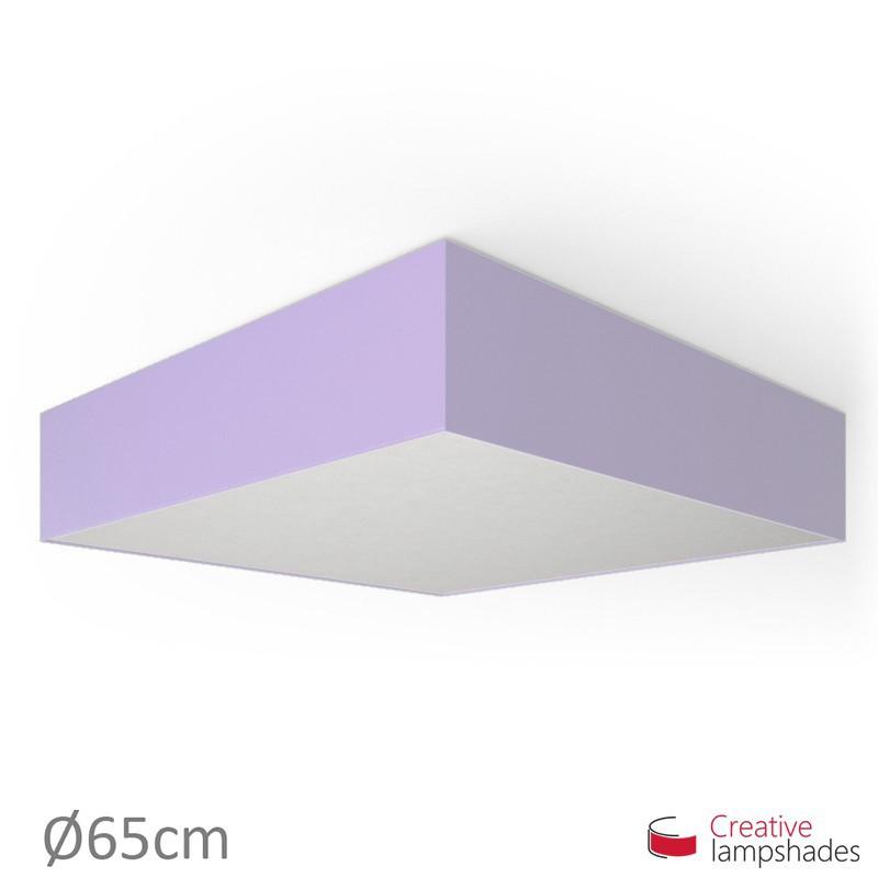 plafoniera quadrata rivestimento teletta lilla