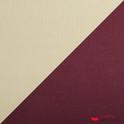 Trittico sospensione 3 paralumi a cono bicolore  nocciola-bordeaux