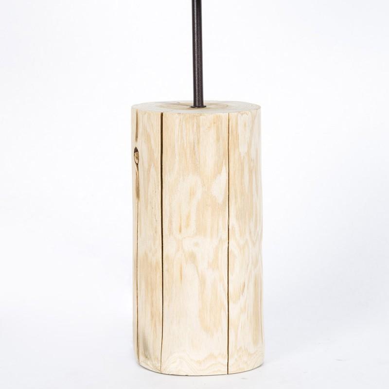 Lampada da tavolo in legno naturale linea basic paralume - Lampada da tavolo legno ...