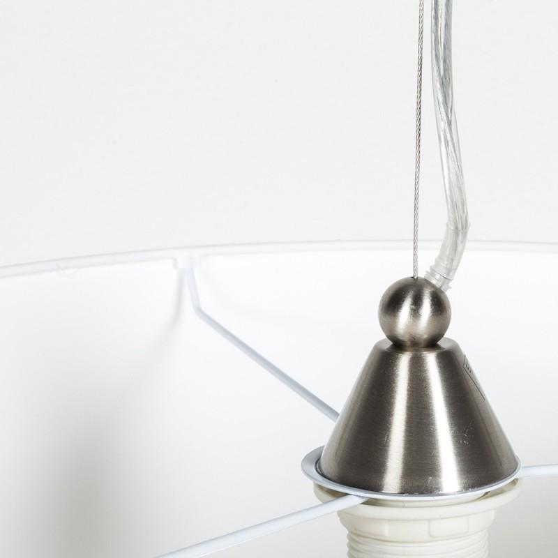 suspension ronde en m tal satin 1 lumi re e 27 max 60 w. Black Bedroom Furniture Sets. Home Design Ideas