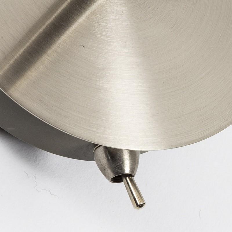 Applique simply tondo metallo satinato con interruttore e - Applique con interruttore ...