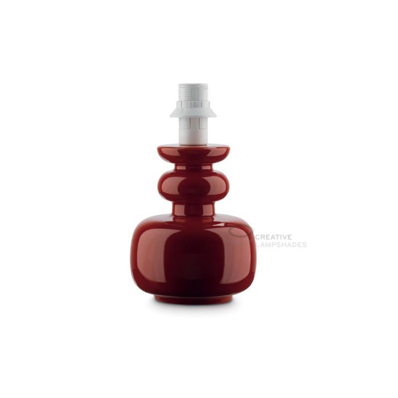 Lampade Da Tavolo Con Base In Ceramica : Base da tavolo in ceramica collezione cactus colore rosso