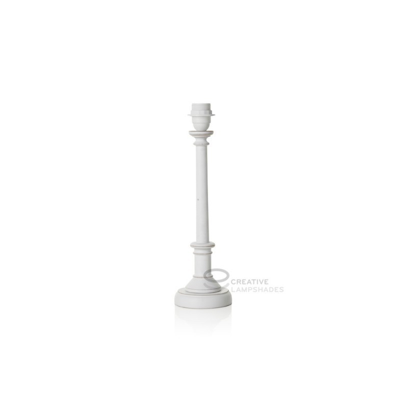 table lamp base coated white wood color e27 fitting max 60w. Black Bedroom Furniture Sets. Home Design Ideas