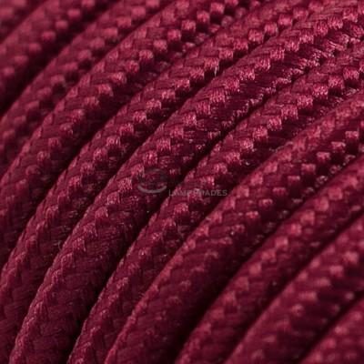 Pendel per paralume a sospensione con cavo tessile Effetto Seta Bordeaux