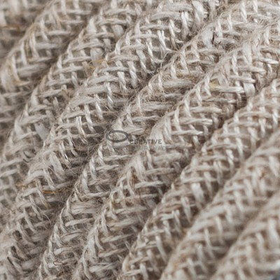 Pendel per paralume a sospensione con cavo tessile Lino Naturale Neutro