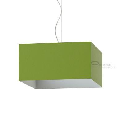 Paralume Parallelepipedo rivestimento Teletta Verde Oliva