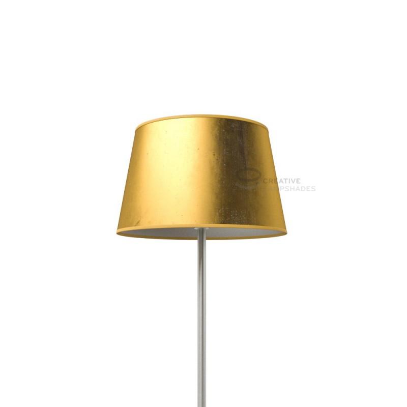 Paralume Ovale rivestimento Foglia Oro