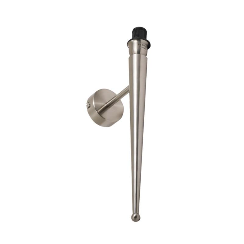 Applique conico in metallo satinato  E 14 max 40 w