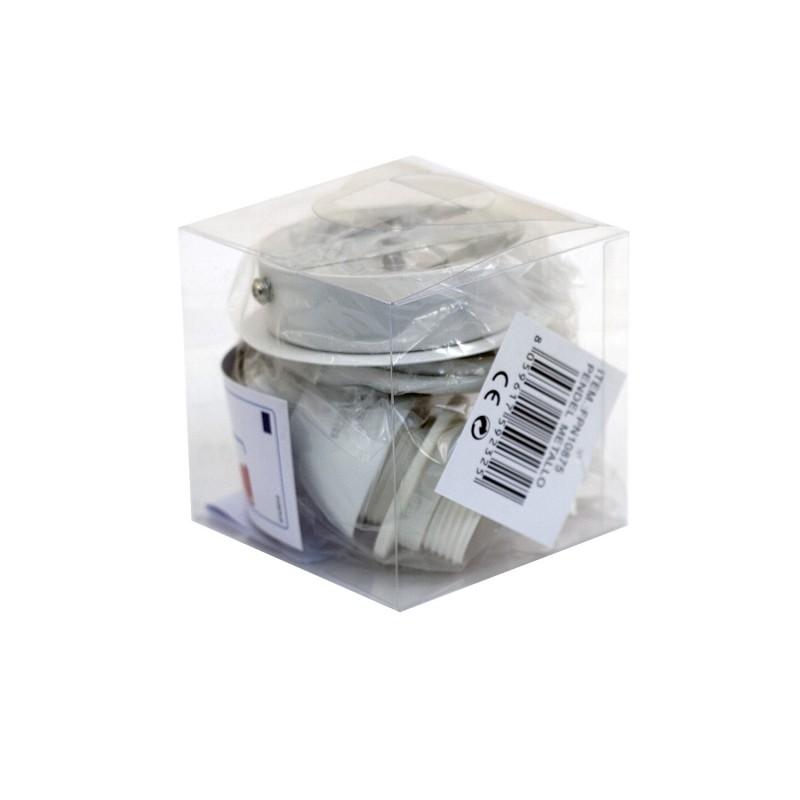 suspension ronde blanche laqu e 1 lumi re e 27 max 60 w. Black Bedroom Furniture Sets. Home Design Ideas