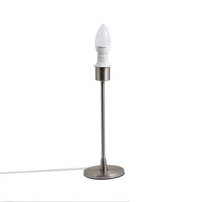 Base lampada Simply metallo satinato E 14 max 40 w