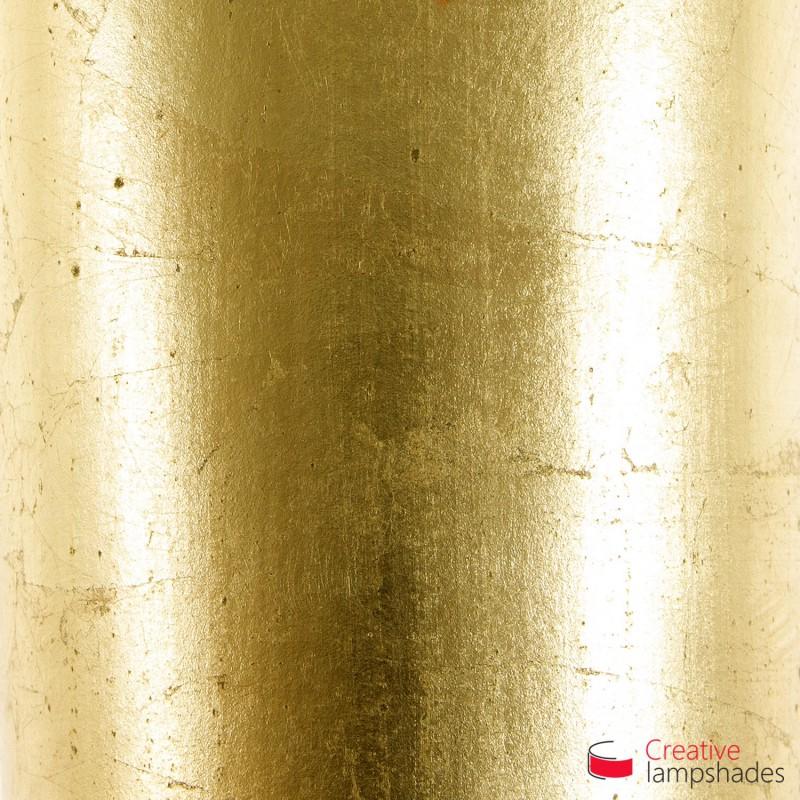 Paralume Cilindro Rivestimento Foglia Oro