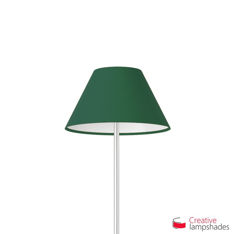 Chinese lampshade Dark Green Canvas covering
