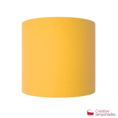 Half Cylinder Wall Lampshade Golden Yellow Canvas Covering With Box ...