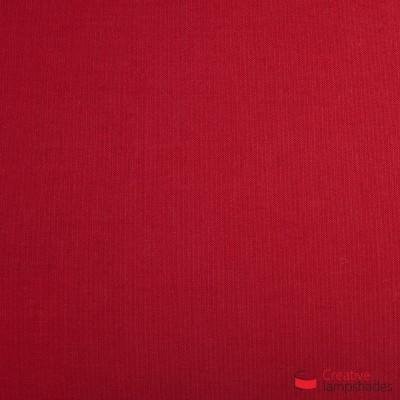 Paralume ventola sagomata per applique a muro rivestimento Teletta Rosso