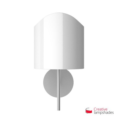 Scallop half cylinder lampshade for wall lamp White Lumiere covering