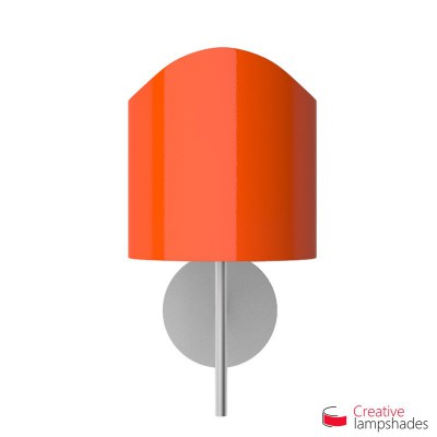 Scallop half cylinder lampshade for wall lamp Orange Lumiere covering
