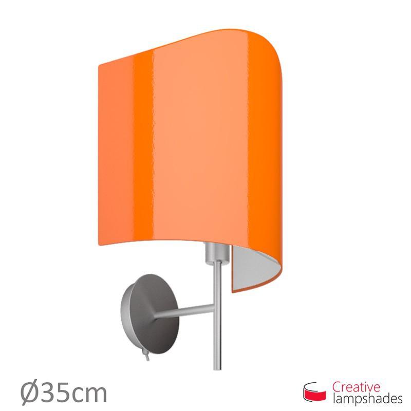 Paralume ventola sagomata per applique a muro rivestimento Lumiere Arancio