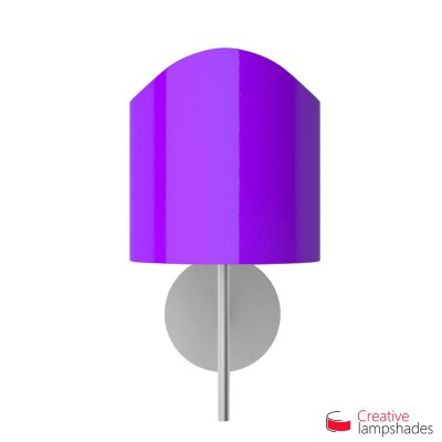 Scallop half cylinder lampshade for wall lamp Violet Lumiere covering