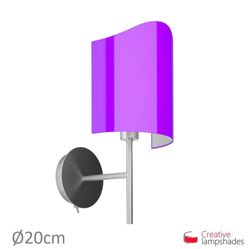 Paralume ventola sagomata per applique a muro rivestimento Lumiere Viola