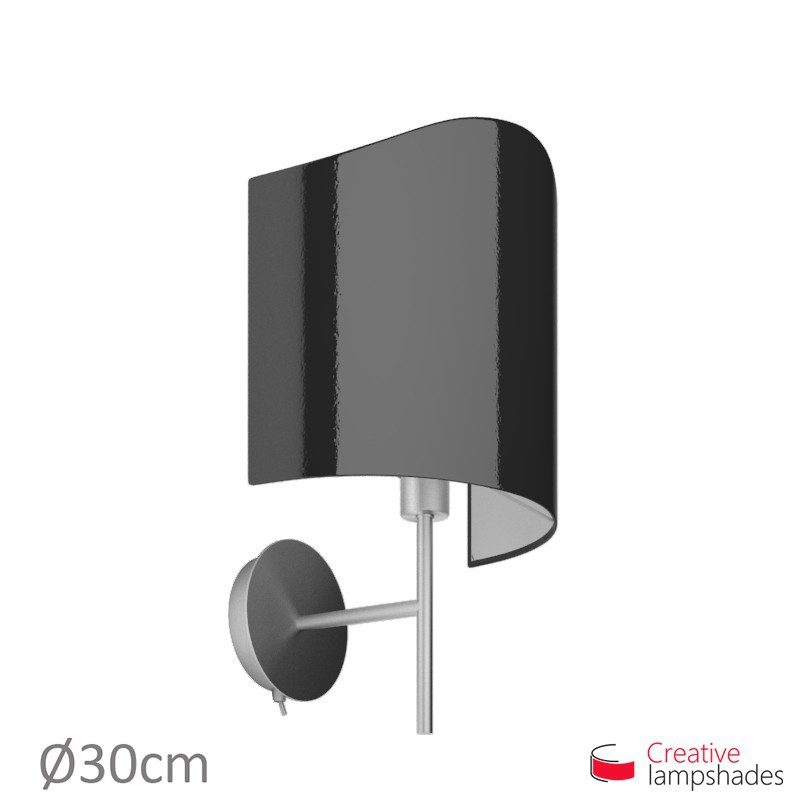 abat jour applique model e pour lampe murale rev tement lumi re noir. Black Bedroom Furniture Sets. Home Design Ideas