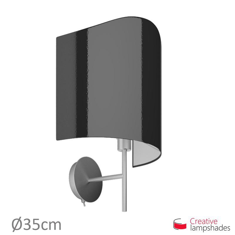 Paralume ventola sagomata per applique a muro rivestimento Lumiere Nero