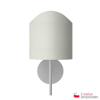 Scallop half cylinder lampshade for wall lamp White Raw cotton covering