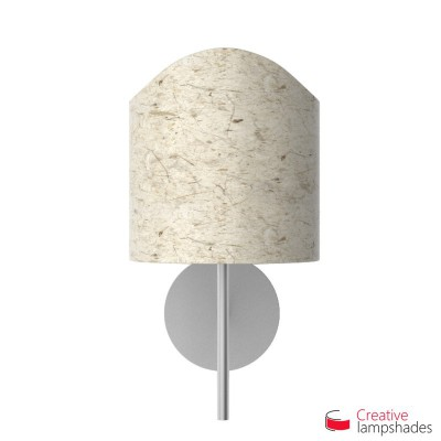 Scallop half cylinder lampshade for wall lamp Banana Paper covering