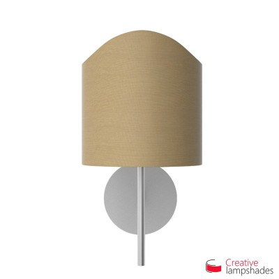 Scallop half cylinder lampshade for wall lamp Turtledove Arenal cover