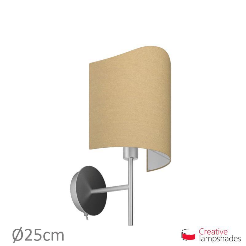 Paralume ventola sagomata per applique a muro rivestimento Arenal Tortora