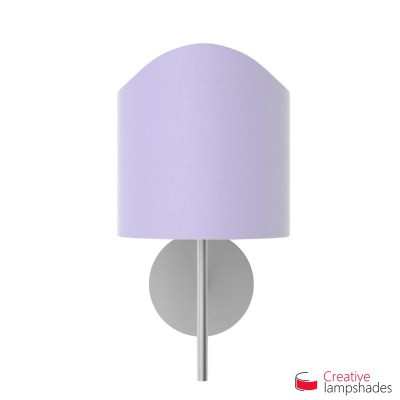 Scallop half cylinder lampshade for wall lamp Lilac Canvas covering