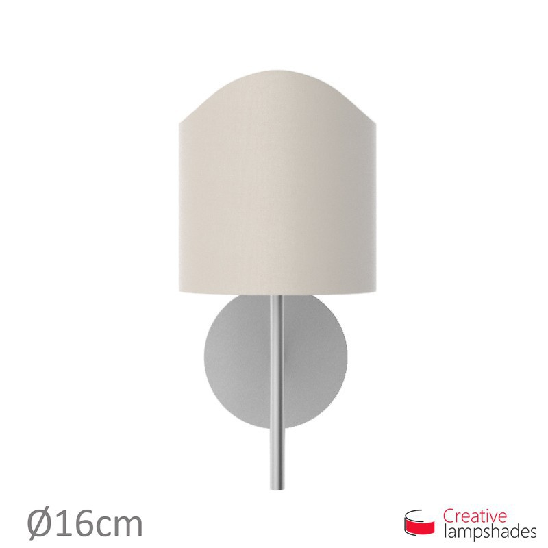 Scallop half cylinder lampshade for wall lamp Sand Canvas cover
