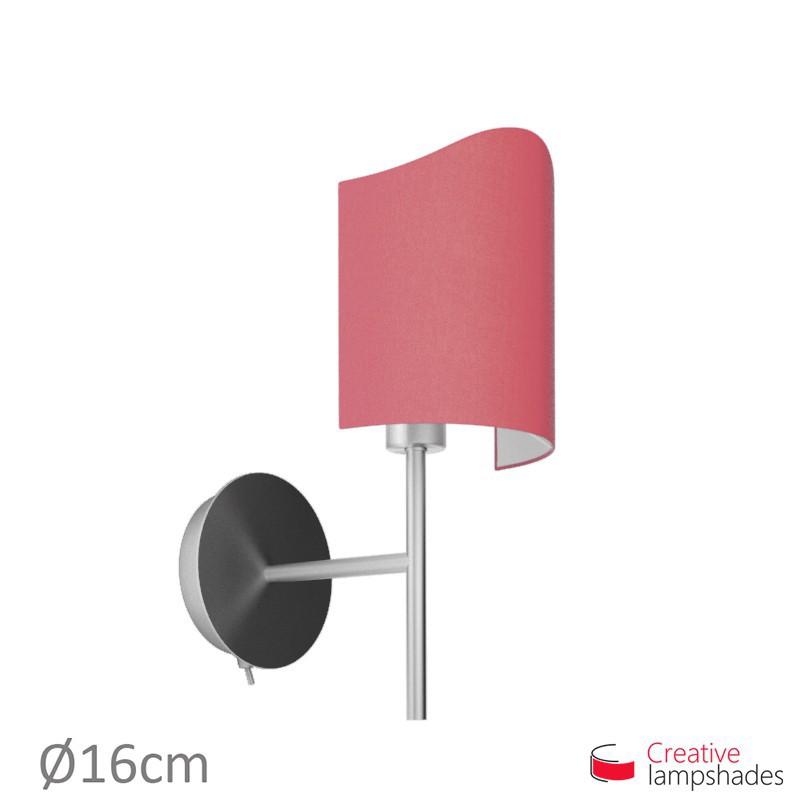 Paralume ventola sagomata per applique a muro rivestimento Teletta Fucsia