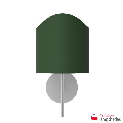 Scallop half cylinder lampshade for wall lamp Dark Green Canvas cover