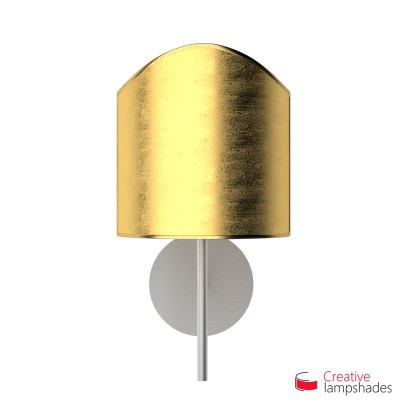 Scallop half cylinder lampshade for wall lamp Gold Leaf covering