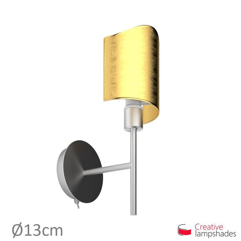 Paralume ventola sagomata per applique a muro rivestimento Foglia Oro