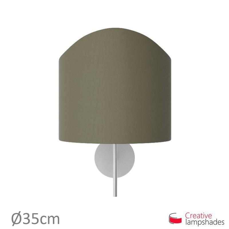 Paralume ventola sagomata per applique a muro rivestimento Teletta Cenere