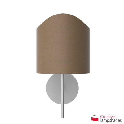 Scallop half cylinder lampshade for wall lamp Grey Arenal covering