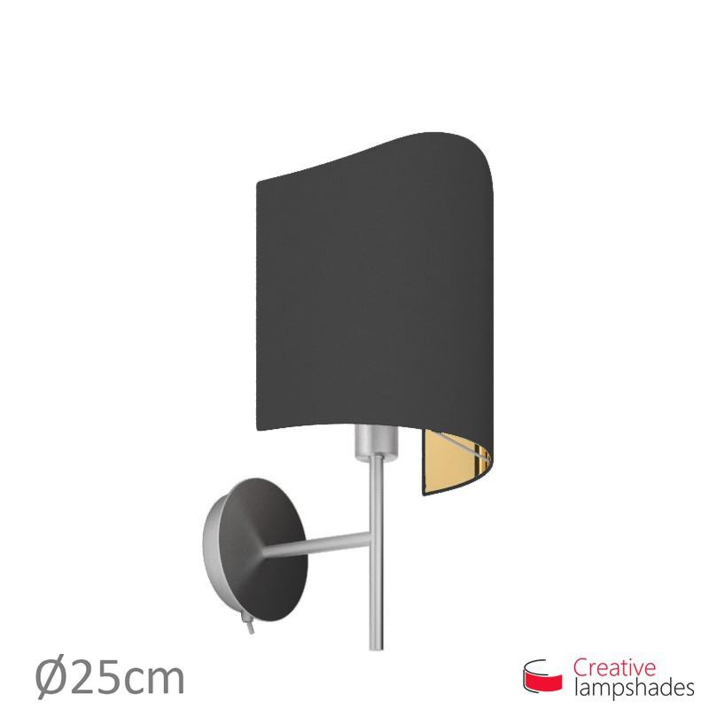 lampenschirm halbrund zylinder f r wandleuchte. Black Bedroom Furniture Sets. Home Design Ideas