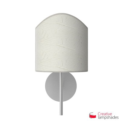 Scallop half cylinder lampshade for wall lamp Milk Palmeras covering