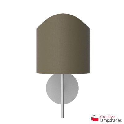 Scallop half cylinder lampshade for wall lamp Ash Canvas covering