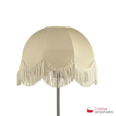 Scallop Dome lampshade Milk Jersey covering