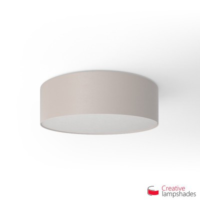 Round ceiling lamp with Sand Canvas covering