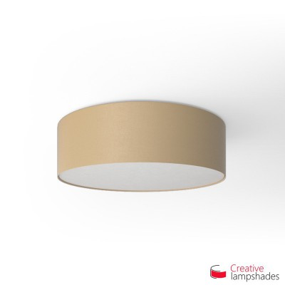 Round ceiling lamp with Hazel Canvas covering