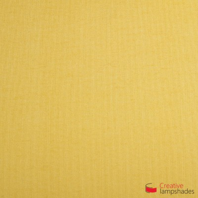 Round ceiling lamp with Golden Yellow Canvas covering