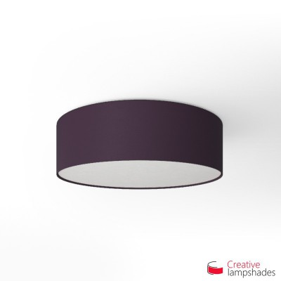 Round ceiling lamp with Dark Violet Canvas covering