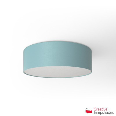 Round ceiling lamp with Heavenly Blue Canvas covering