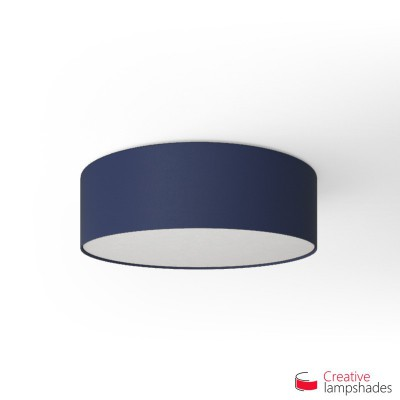 Round ceiling lamp with Blue Canvas covering